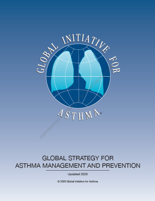 2020 GINA Report, Global Strategy for Asthma Management and Prevention